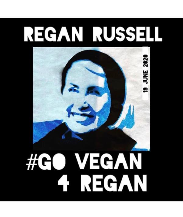 Go Vegan for Regan flyer