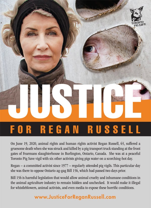 Justice for Regan flyers 5x7 front