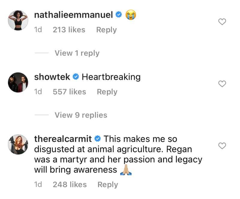Nathalie Emmanuel response to Regan Russell movie
